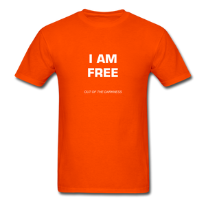 I Am Free Unisex Standard T-Shirt - orange