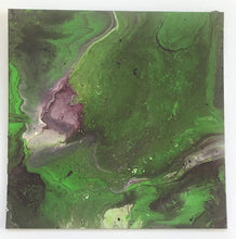 "Load image into Gallery viewer, 12x12"" Green & Purple Canvas Panel"