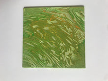 "Load image into Gallery viewer, 5x5"" Green Canvas Panel"