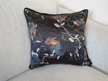 Load image into Gallery viewer, Oriental Print Rope Edge Cushion