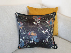 Oriental Print Rope Edge Cushion