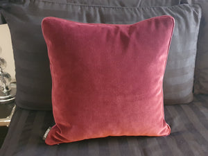 Winter Garden Jacquard Double Sided Velvet Cushion
