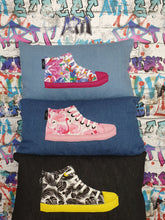 Load image into Gallery viewer, Hazeldee Home Handmade Cushion Bundle with a graffiti background.