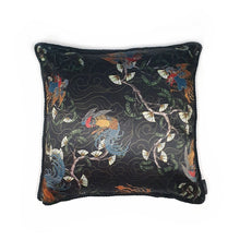 Load image into Gallery viewer, Oriental Print Rope Edge Cushion 18""