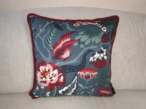 Wild Flower Botanical Double Sided Velvet Cushion