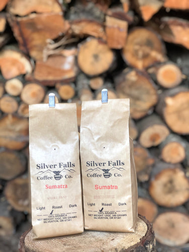 Silver Falls Coffee Co. Sumatra - whole bean or ground