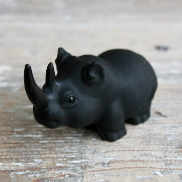 Black Obsidian Rhinoceros.