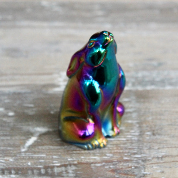 Angel Aura Black Obsidian Hare.