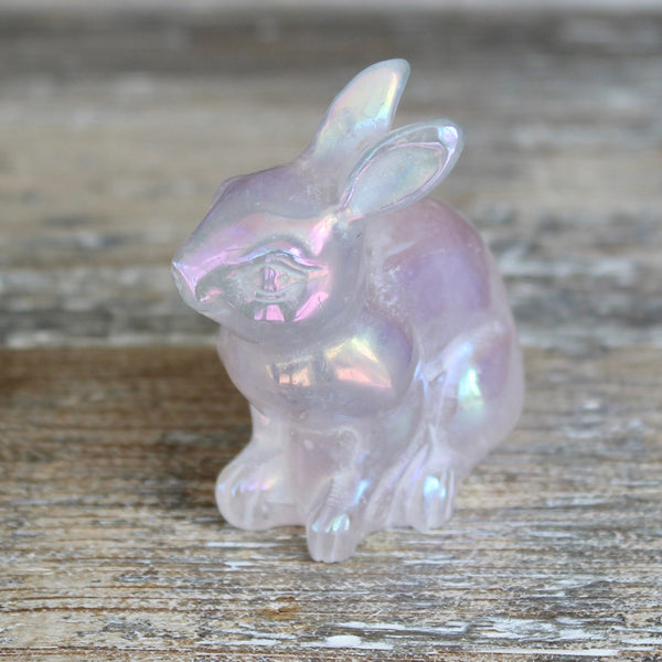 Angel Aura Rose Quartz Rabbit