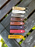 Personalized Leather Keyfob - Awl the Things