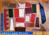 Remnants bag - Assorted Finished Italian Leather (per 1/2lbs