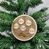 'Our Family' Wooden Christmas Ornament