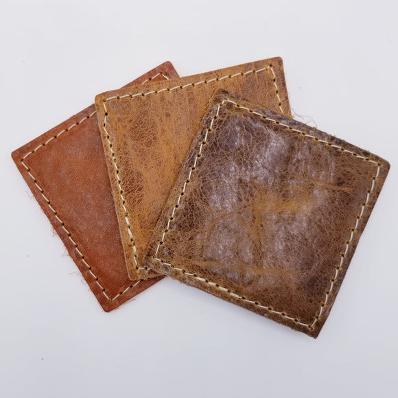 Blanks -  Leather Coasters American Bison Double-sided