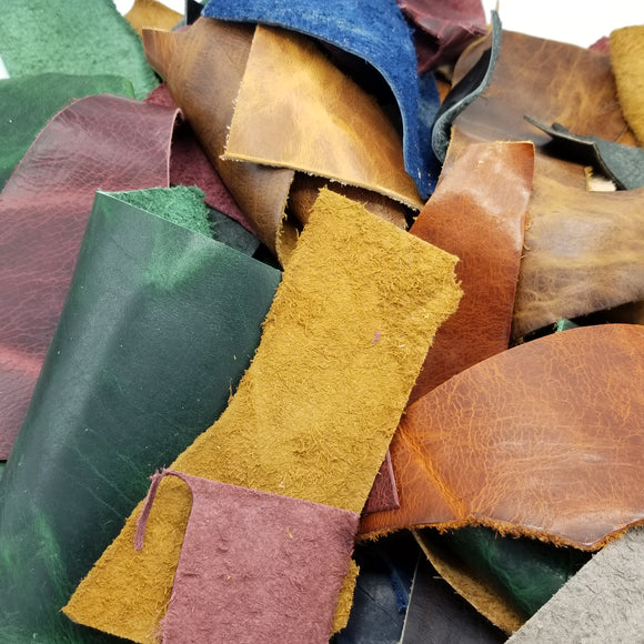 Remnants bag - Assorted Finished American Leather (per 1/2lbs)