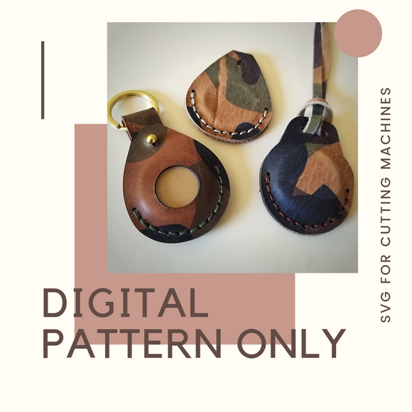 Leather Coin/Tag Holder Digital Pattern)