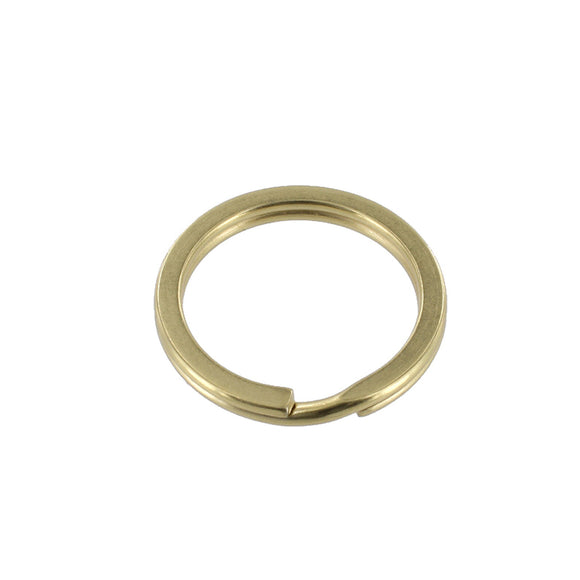Hardware - Split Key Ring - Brass Plated