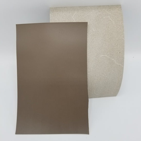 Taupe Italian Buttero Leather