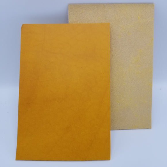 Yellow Italian Buttero Leather
