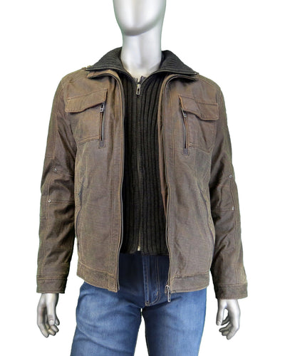 Sly&Co | Hans-2 | Leather Jacket | Brown
