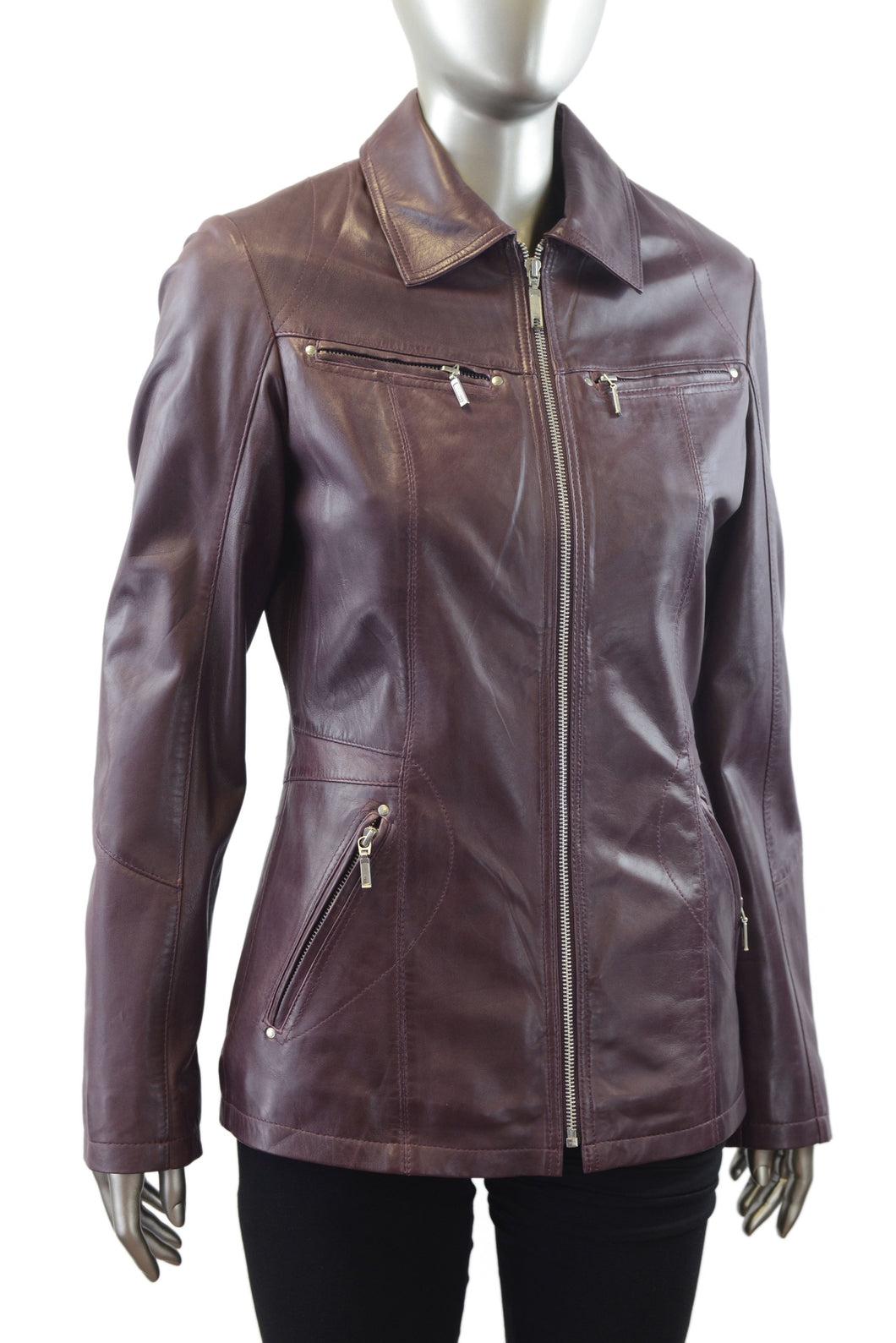 Plonge | 30606 | Leather Jacket | Purple