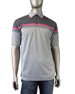 Leo Chevalier | 426510 | Polo T-Shirt | Grey/Pink
