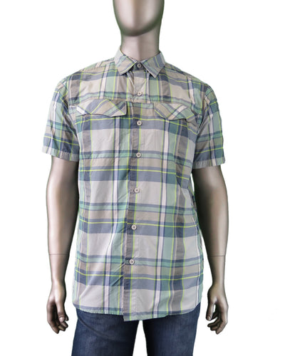 Columbia | AM7429-304 | Silver Ridge Muliti Plaid S/S Shirt | Grey/Green