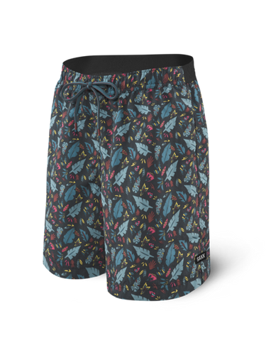 Saxx | SXSS29 | Cannonball 2N1 Swim Short | Pop Flora Blue