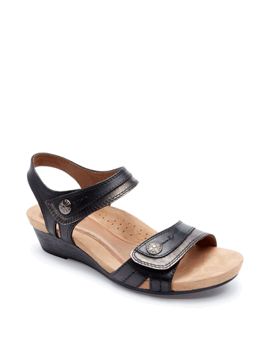 Rockport | CCK19BK | Cobb Hill Hollywood Button Sandal | Black