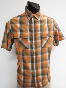 Columbia | AM7707-872 | Double Blaze S/S Shirt | Orange/Grey