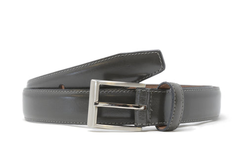 Bench Craft | Belt | 3036S-7 | 30MM | Calf Grain |Satin Nickel Buckle | Grey
