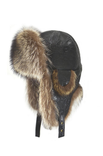 Crowncap | 2-51321 | Aviator Hat | Raccoon Fur
