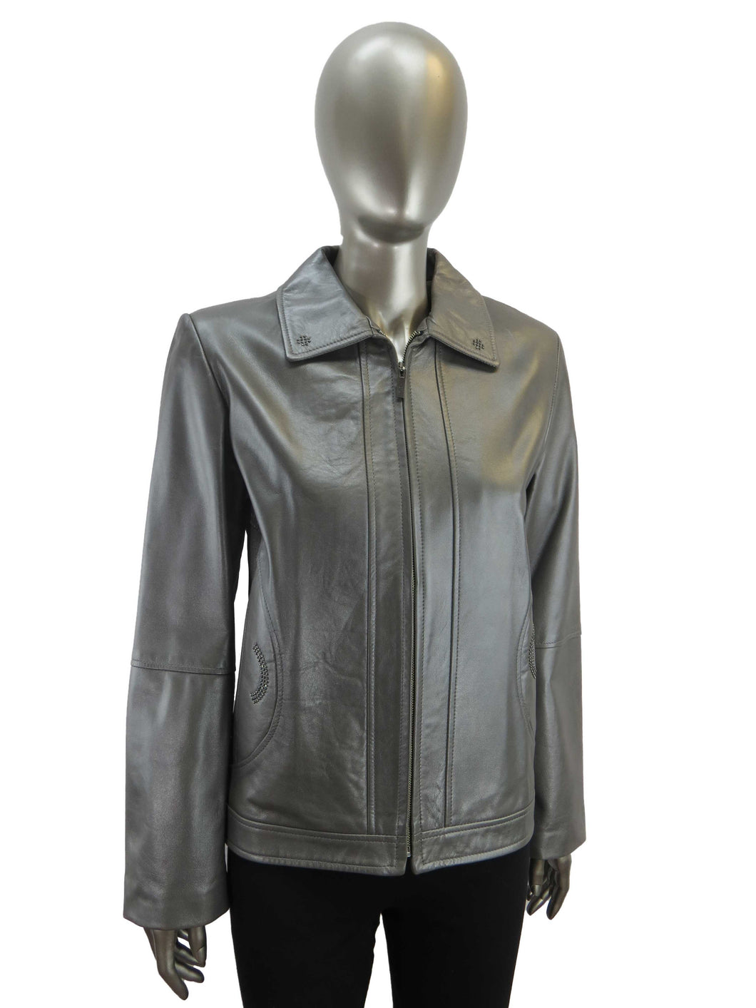 Jez | 6010 | Elite Leather Jacket | Silver