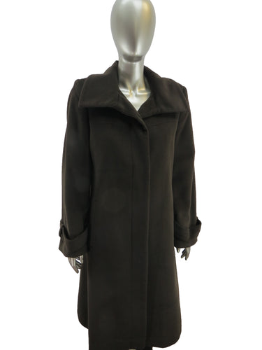 Jones New York | 28052R | Wool Coat | Brown
