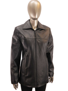 Kelsey | PC9385 | Leather Jacket | Black