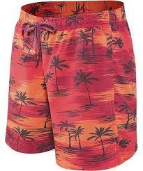 Saxx | SXLS30 | Cannonball N21 Long Swim Short | Red Palm Sunset