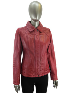 Plonge | 30520 | Leather Jacket | Dark Red