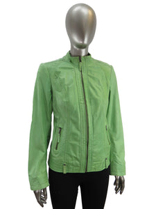 Plonge | Florence Leather Jacket | Green