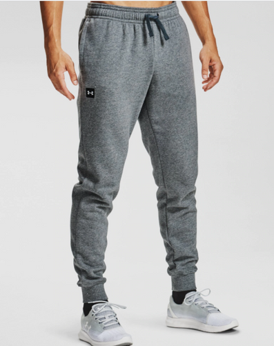 Under Armour | 1357128 | Rival Fleece Jogger | Pitch Gray Light Heather / Onyx White