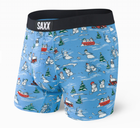 Saxx | SMBM35 | Vibe Boxer Brief | Blue Pucking Awesome