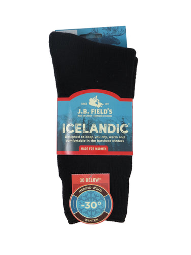 J. B. Field's | 8030 | 30 Below Icelandic Socks | Black