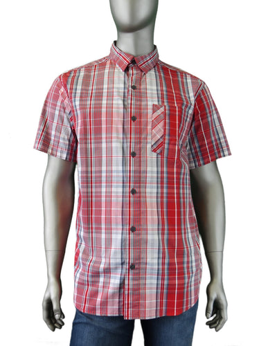 Columbia | AM1017-676 | Decoy Rock S/S Shirt | Red/Grey