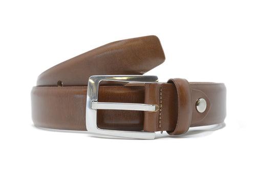 Bench Craft | Belt | 5058-14 | 35MM | Milled Calf |Nickel Free Buckle | Light Tan