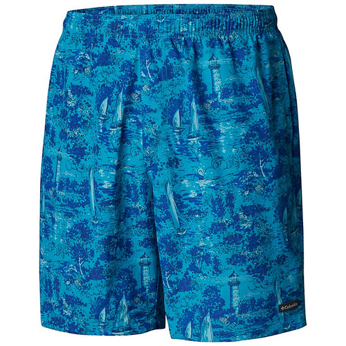 Columbia | AM0146-443 | Big Dippers Water Short | Modern Turq Boat Print