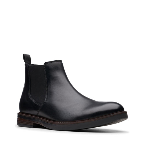 Clarks | 26144798 | Paulson Up | Black Leather