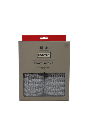 Hunter | UAS3127AAC | Original Waffle Cuff Tall Boot Socks | Hunter White/Pale Grey