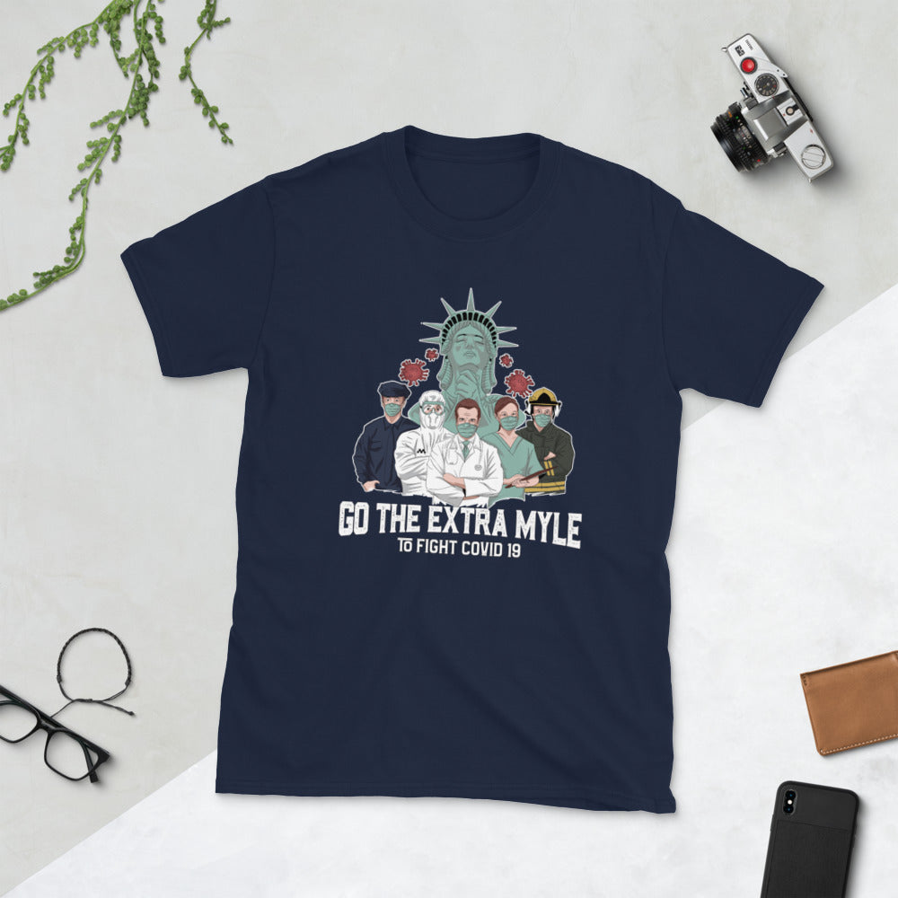 Go Extra Myle and Support NYC COVID-19 relief efforts (Unisex T-Shirt Gift)
