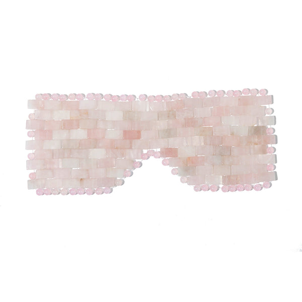 Genuine Rose Quartz Stone Eye Mask