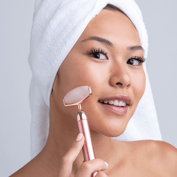 Genuine Rose Quartz Vibrating Face Roller