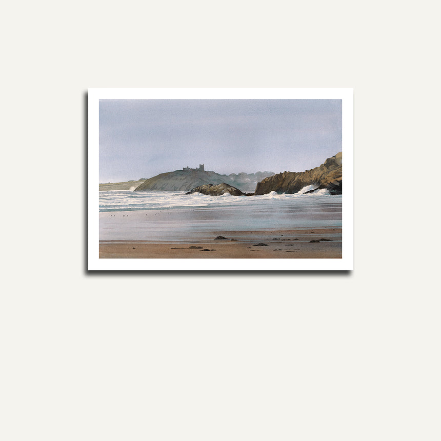 Print only Cricieth Castle from Black Rocks.