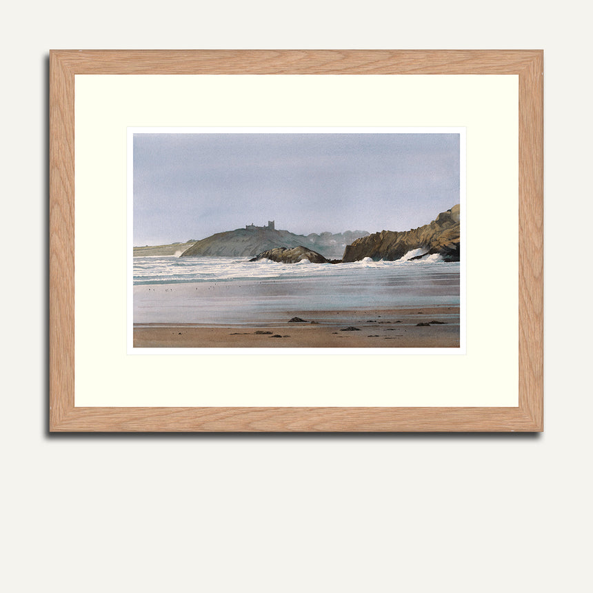 Framed Cricieth Castle from Black Rocks.
